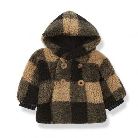 Abrigo polar cuadros EUGENE de bebé en BRANDY