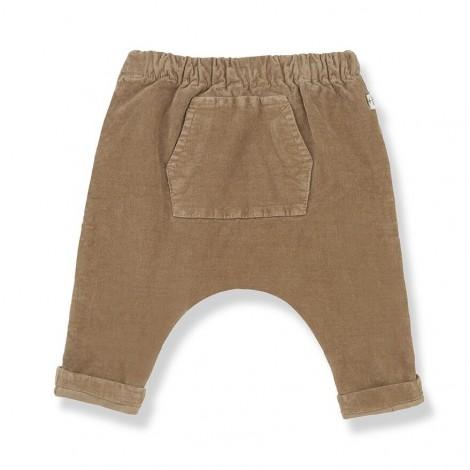 Pantalón baggy micropana GENIS de bebé en BRANDY