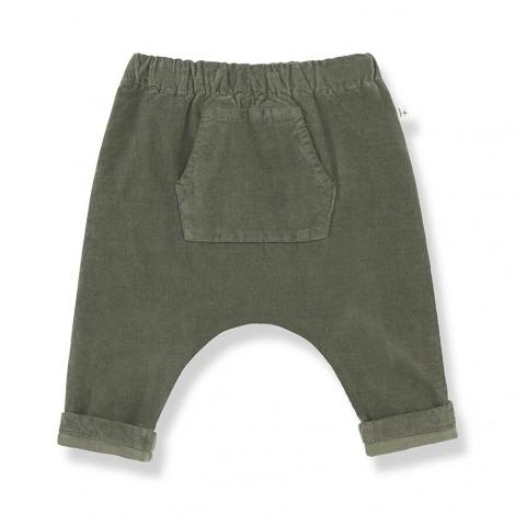 Pantalón baggy micropana GENIS de bebé en OLIVA