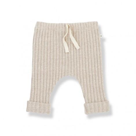 Pantalón leggings GEROME de bebé en CREMA