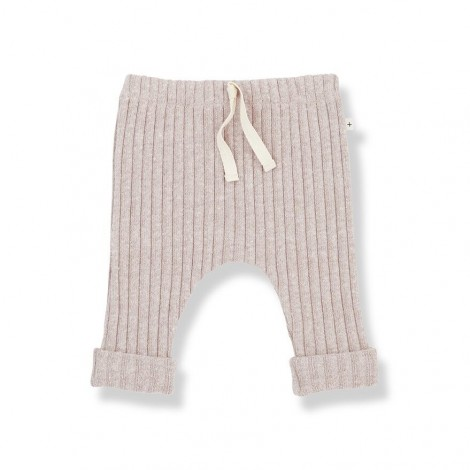 Pantalón leggings GEROME de bebé en NUDE