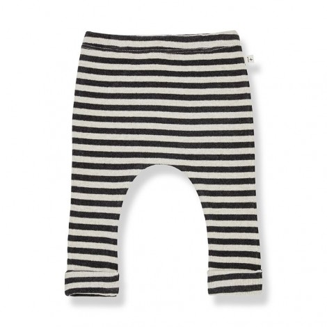 Pantalón leggings rayas NORAH de bebé en ALABASTRO