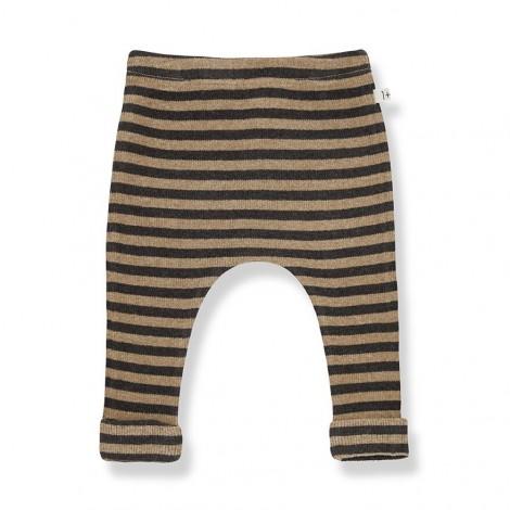 Pantalón leggings a rayas NORAH de bebé en BRANDY