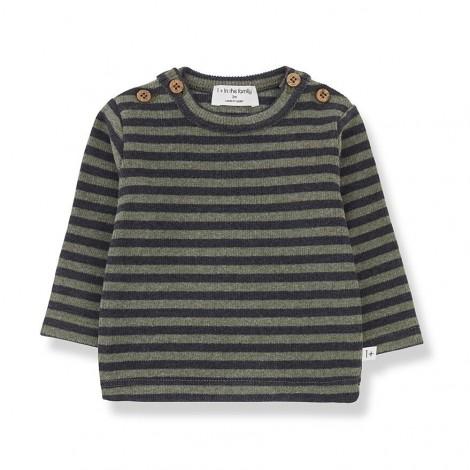 Camiseta rayas botones SANDRO de bebé en OLIVA