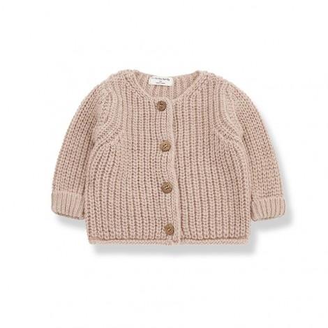 Chaqueta tricot REA de bebé en ROSA