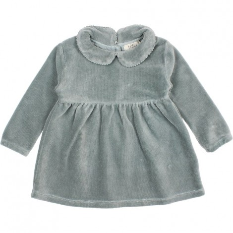 Vestido Bebé Terciopelo en STORM GREY
