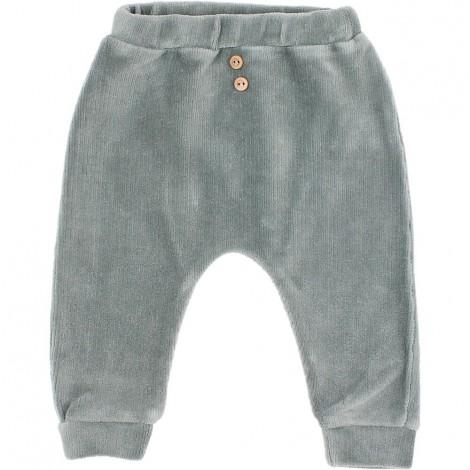 Pantalón Bebé Terciopelo en STORM GREY