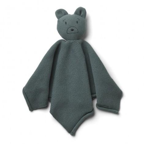 Doudou de punto Miilo bebé Mr bear whale blue