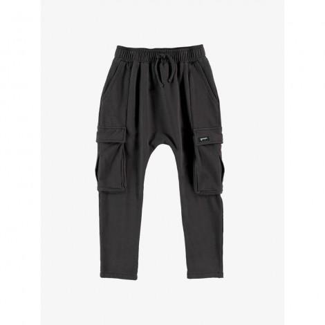 Pantalón largo infantil cargo baggy en ASPHALT
