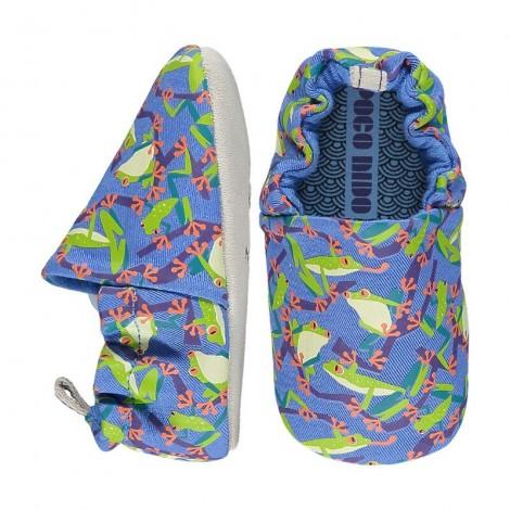 Zapatitos bebé Poco Nido TREE FROGS BLUE shoes
