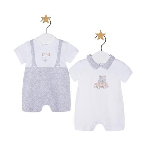 Set 2 pijamas cortos vestir