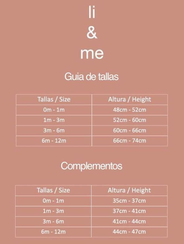 Guía de talla Li & me
